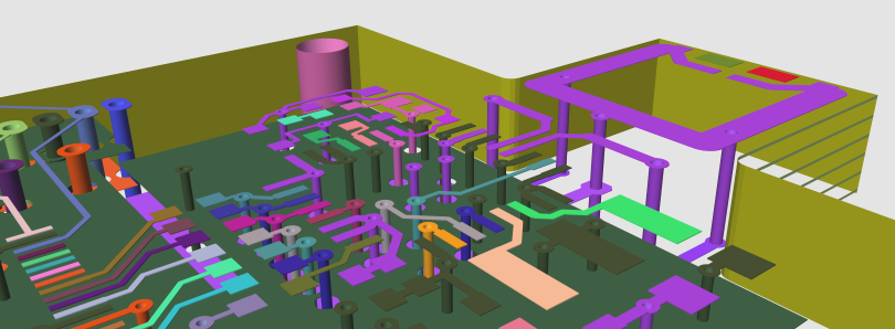 ZofzPCB 3D Gerbers and Drills View